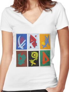 Signs & Motions 3 Women's Fitted V-Neck T-Shirt