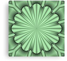 Abstract Flower in Green Canvas Print