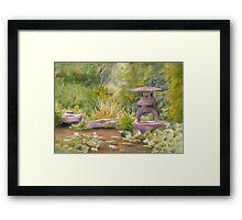 Water Garden, Newstead Abby Grounds Framed Print