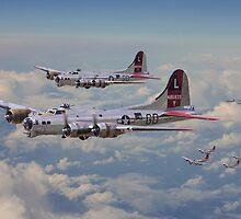 B17- 381st Bomb Group en-route by Pat Speirs