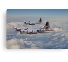 B17- 381st Bomb Group en-route Canvas Print