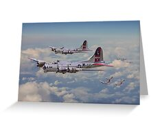 B17- 381st Bomb Group en-route Greeting Card