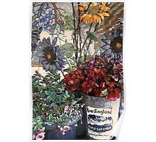 Cozy Floral Porch Poster
