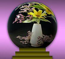 Sunflower in Globe by Sheryl Kasper