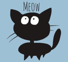 Meow, cute kitty Kids Clothes