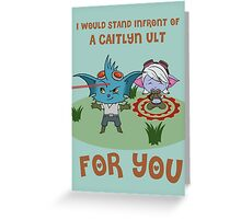 League Of Legends Valentine card : Rumble and Tristana Greeting Card