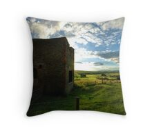 Old Mine Wheel House Throw Pillow