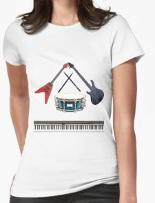 Band! Womens Fitted T-Shirt