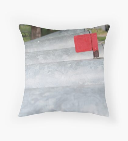 Waiting, But Not Alone Throw Pillow
