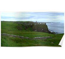 NI - NorthEast coastline ... Dunluce Castle Ruins Poster
