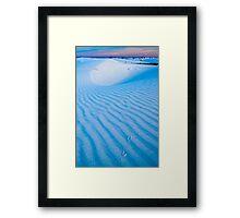 Tracks in the sand. White Sands National Monument (Alan Copson (C) 2007) Framed Print