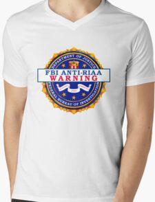 Anti-RIAA Warning Mens V-Neck T-Shirt