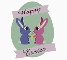 Happy Easter Cute Bunnies Kids Clothes