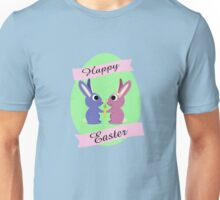 Happy Easter Cute Bunnies Unisex T-Shirt