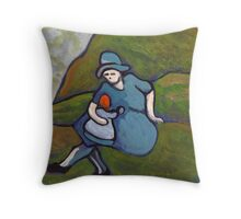Watching the bairn Throw Pillow