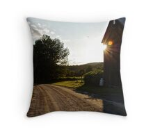A Golden Ray Throw Pillow