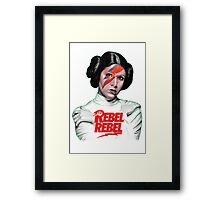 Rebel Rebel Leia Framed Print