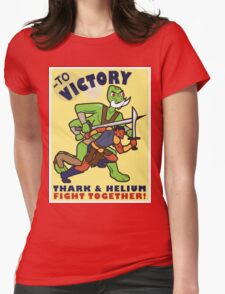 To Victory! Thark & Helium Fight Together Womens Fitted T-Shirt