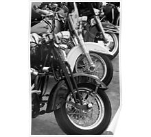 Three Harleys Poster