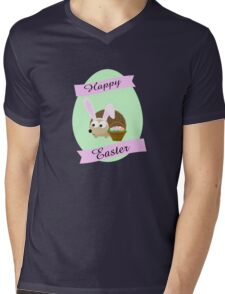 Happy Easter Hedgehog Mens V-Neck T-Shirt