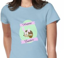Happy Easter Hedgehog Womens Fitted T-Shirt