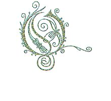 ANTIQUE FILIGREE LETTER OPETH - Extreme Pastel Photographic Print