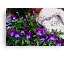 Violets by Moonlight Canvas Print