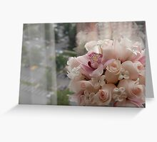 bouquet in the city Greeting Card