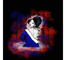 Blue Geisha Photographic Print