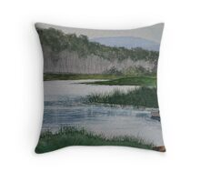 Fishin in the Adirondacks Throw Pillow