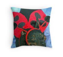 ladybug pincher Throw Pillow