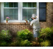Watering the plants Photographic Print