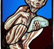 Gollum (Stained Glass) by Antonio Méndez Díaz