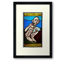 Gollum (Stained Glass) Framed Print