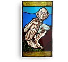 Gollum (Stained Glass) Metal Print