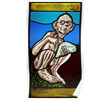 Gollum (Stained Glass) Poster