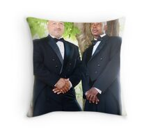 Groom and Best Man Throw Pillow