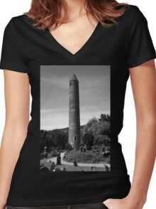 Round Towers Of Ireland Women's Fitted V-Neck T-Shirt
