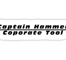 Captain Hammer Coporate Tool Sticker