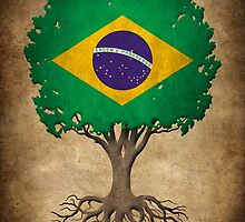 Tree of Life with Brazilian Flag by Jeff Bartels