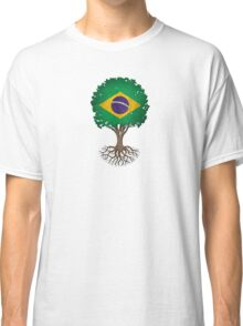 Tree of Life with Brazilian Flag Classic T-Shirt