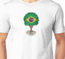 Tree of Life with Brazilian Flag Unisex T-Shirt