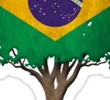 Tree of Life with Brazilian Flag Sticker