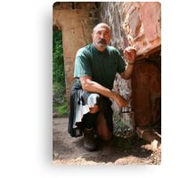 Jake in Kilt; A reluctant Husband Poses. Canvas Print