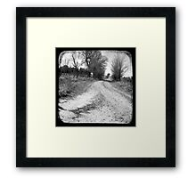Dirty Back Road Framed Print