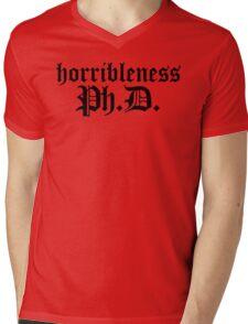 Ph.D In Horribleness Light Version Mens V-Neck T-Shirt