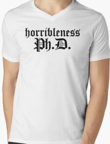 Ph.D In Horribleness Light Version Mens V-Neck T-Shirt