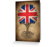 Tree of Life with British Flag Greeting Card