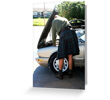 Celtic Oil Check Greeting Card