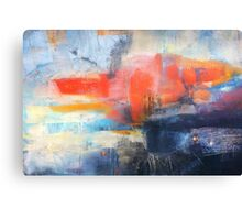 Blue Red Abstract  Canvas Print